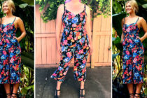 On a Real Person – Crossroads Floral Jumpsuit